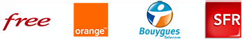 Free, orange, Bouygues et SFR